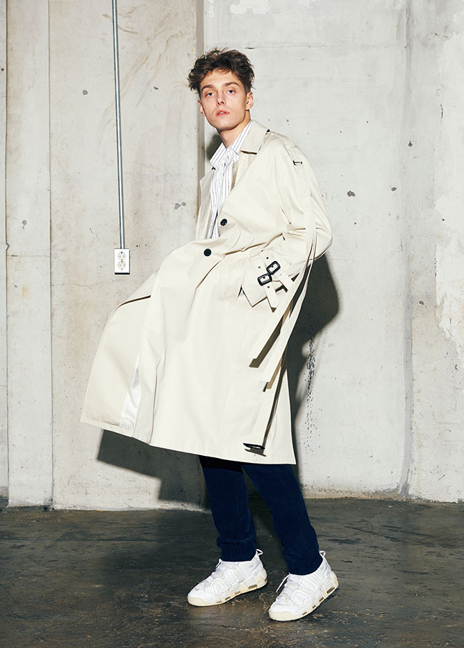 Oversize strap trench coat