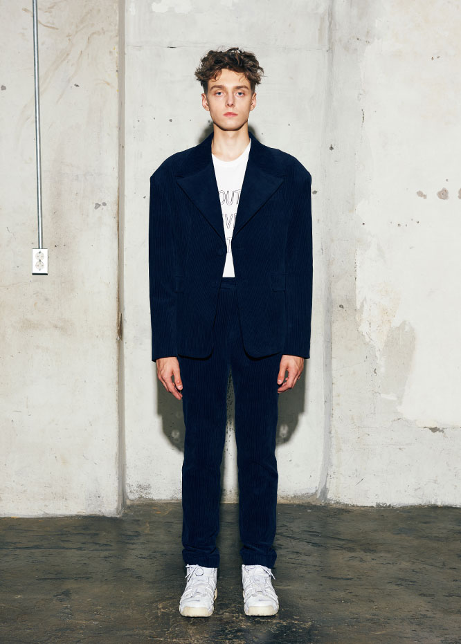 Oversize corduroy set-up jacket